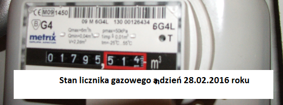 Eksploatacja – od 26.10.2015  r.  do  28.02.2016  r.